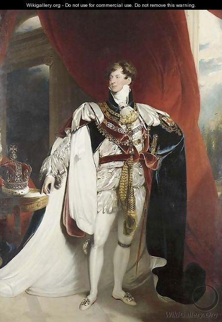 Portrait of King George IV (1762-1830) - (after) Lawrence, Sir Thomas
