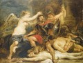 A hero crowned by Victory - (after) Sir Peter Paul Rubens