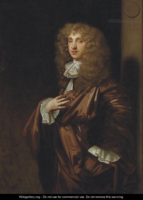 Portrait of John Wilmot, 2nd Earl of Rochester (1647-1680) - (after) Sir Peter Lely