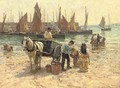 On the beach, St. Ives, Cornwall - Terrick John Williams
