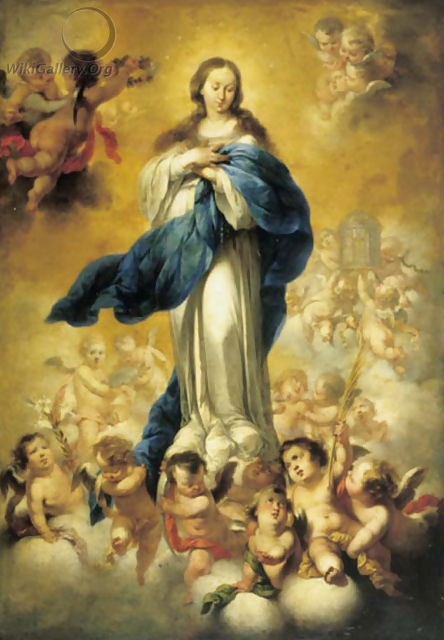 The Assumption of the Virgin - Spanish School