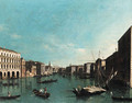 The Grand Canal, Venice, looking south from the Palazzi Foscari and Moro-Lin to the Church of Santa Maria della Carita - (after) (Giovanni Antonio Canal) Canaletto