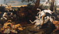 Hounds attacking a Boar - (after) Frans Snyders
