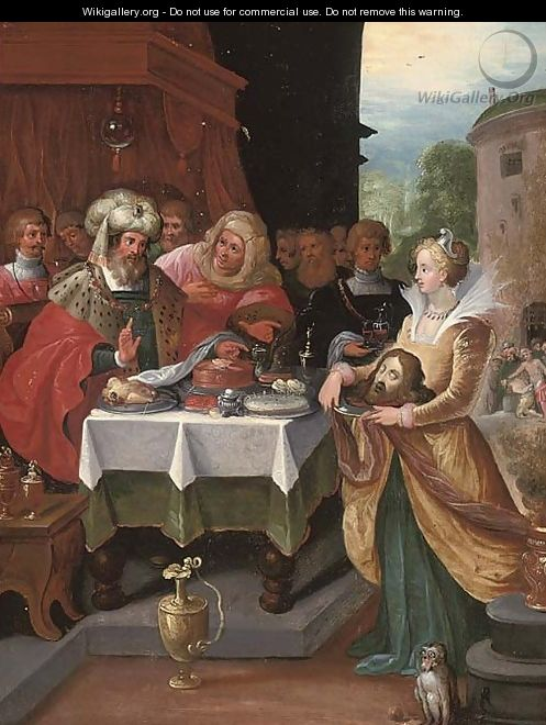 Salome presenting the Head of Saint John the Baptist to Herod - (after) Frans II Francken