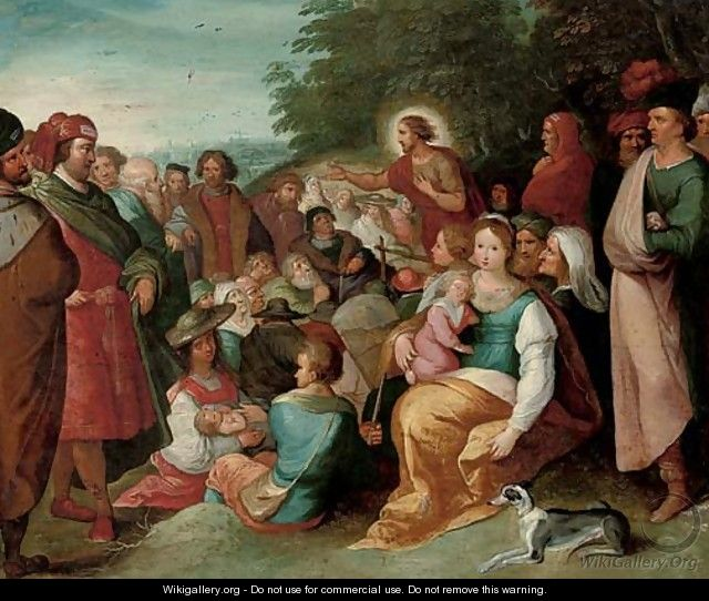Saint John the Baptist preaching to the multitude - (after) Frans II Francken