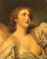 A Girl, bust length, en deshabill - (after) Greuze, Jean Baptiste