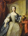 Portrait of a lady, said to be Princess Charlotte-Louise de Rohan-Guemenee (born 1722), as a Vestal Virgin - (after) Jean-Marc Nattier