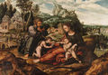 The Holy Family with the Infant Saint John the Baptist on the return from Egypt - (after) An Sanders Van Hemessen