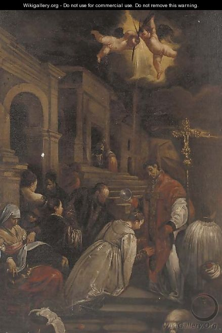 The baptism of Saint Ludmilla 2 - (after) Jacopo Bassano (Jacopo Da Ponte)