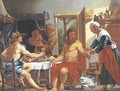 Mercury and Jupiter at the house of Philemon and Baucis - (after) Jacob Jordaens