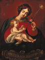Madonna and Child - Spanish Colonial School