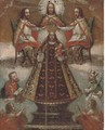 The Virgin Enthroned - Spanish Colonial School