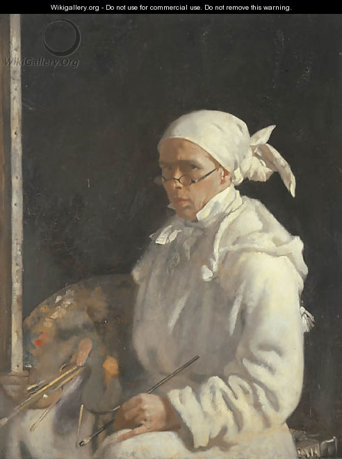 The Painter; self-portrait with glasses - Willam Orpen