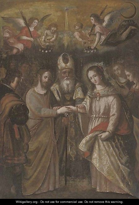 The Marriage of the Virgin - Spanish School