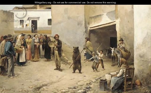 The pedlar and the bear - Spanish School