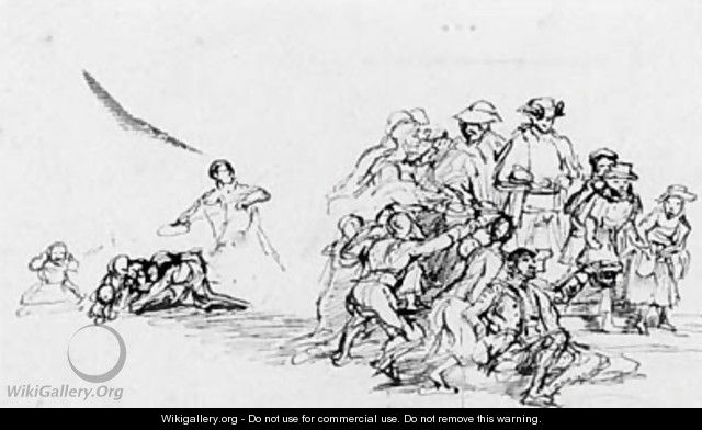 A composition sketch - Sir David Wilkie