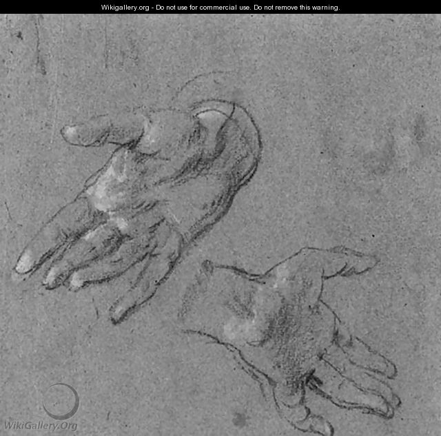 A.Studies of two hands - Sir Anthony Van Dyck
