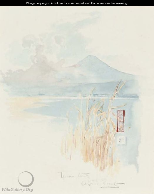 Rushes on the edge of a Japanese lake - Sir Alfred East