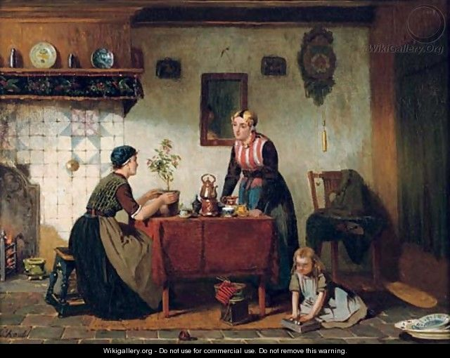 Interior in the North of Holland tea-time - Sipke Kool