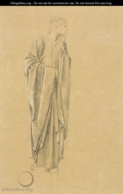 Study of a robed figure for the Danae - Sir Edward Coley Burne-Jones