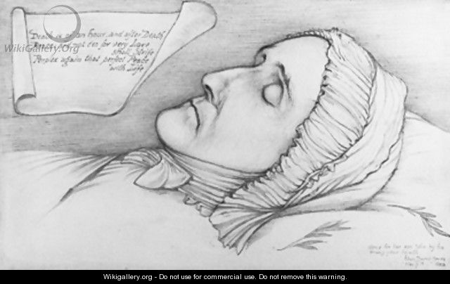 Study of a woman on her death-bed - Sir Edward Coley Burne-Jones