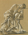 Study of a seated woman, heavily draped - Sir Edward Coley Burne-Jones