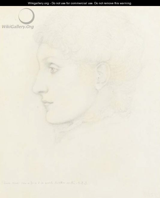 Portrait of lady, in profile to the left, traditionally identified as Georgiana Burne-Jones - Sir Edward Coley Burne-Jones