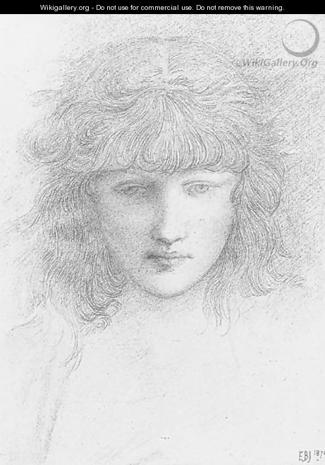 Head of a young girl - Sir Edward Coley Burne-Jones