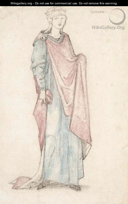 Costume design for Morgan le Fay in J.Comyns Carr