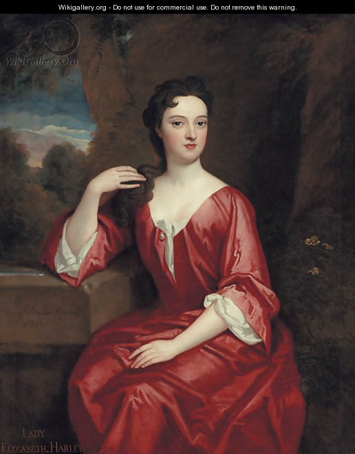 Portrait of Lady Elizabeth Harley, Marchioness of Carmarthen - Sir Godfrey Kneller