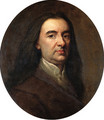 Portrait of a Gentleman, bust-length, in a brown coat and white shirt - Sir Godfrey Kneller