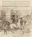 Study for a portrait of Queen Victoria out riding, accompanied by Lords Melbourne and Conyngham (illustrated) - Sir Francis Grant