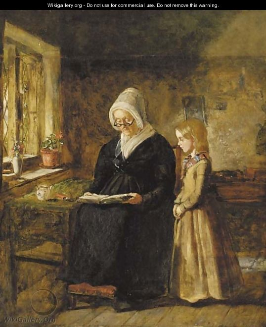 The reading lesson - Sir John Everett Millais