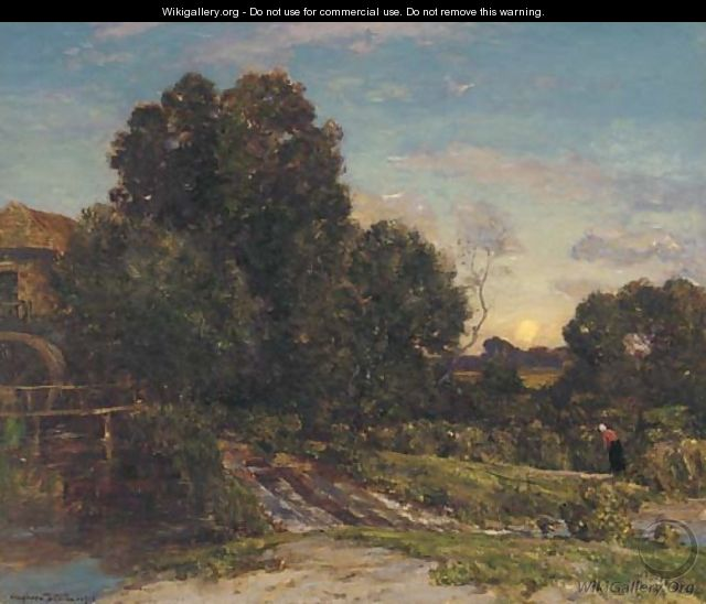 Moonrise, The mill - Herbert Hughes Stanton
