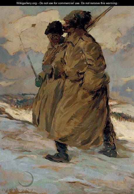 Two Soldiers - Sergey Arsenievich Vinogradov