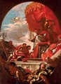 Pope Leo X blessing Giuliano de' Medici, Duke of Nemours and Lorenzo de' Medici, Duke of Urbino - Sebastiano Ricci
