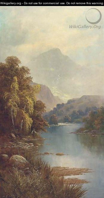 Mountainous river landscapes - Sidney Yates Johnson