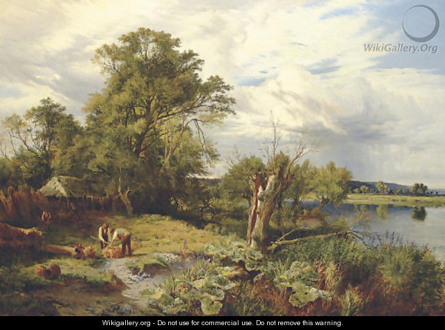 The Thames, near Pangbourne - Sidney Richard Percy