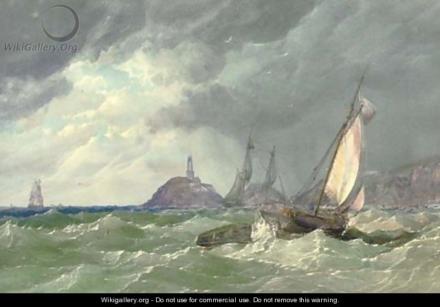 Shipping off the Mumbles lighthouse - Samuel Jackson
