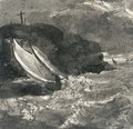 A sailing vessel in a squall off a headland - Samuel Palmer