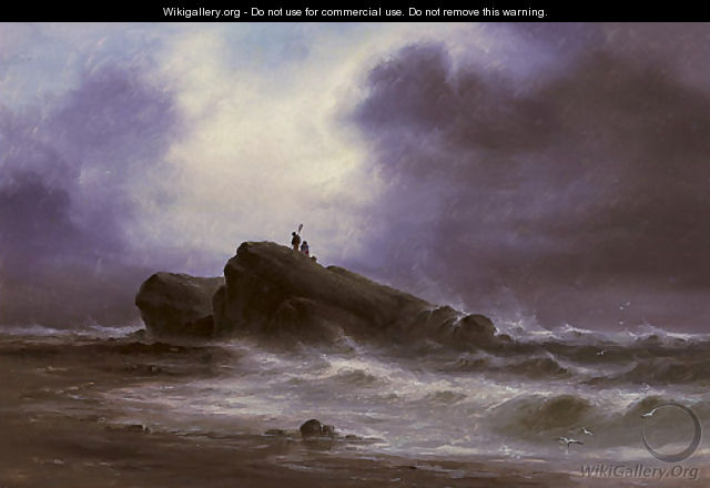 Out on the rocks, the tide receding - S.L. Kilpack