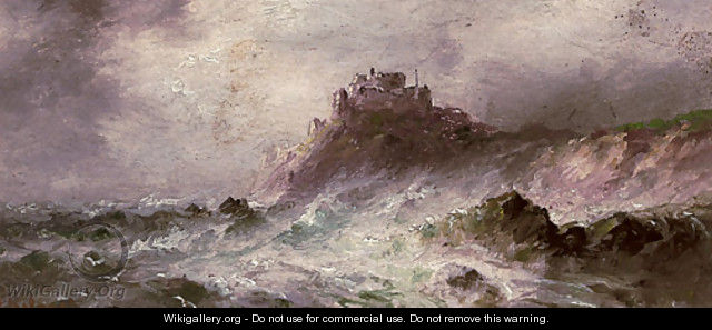 A stormy day, Gorey Castle - S.L. Kilpack