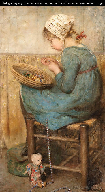 Stringing the beads - Sara McGregor
