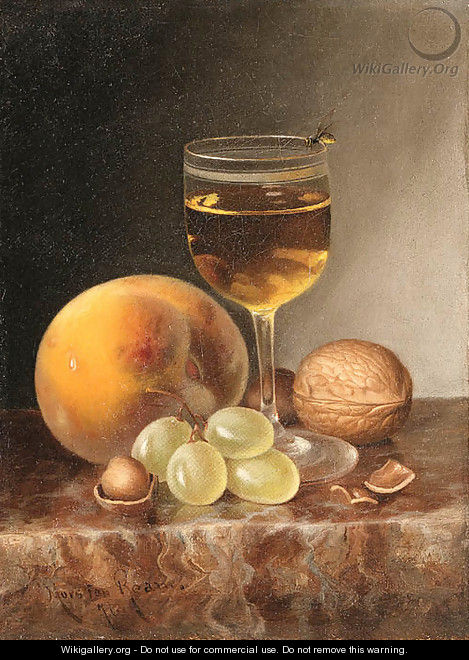 Still Life with Fruit, Wine and Nuts - Morston Constantine Ream