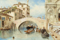 Canale dell'Ospitale and the Scuola di San Marco, Venice - Myles Birket Foster