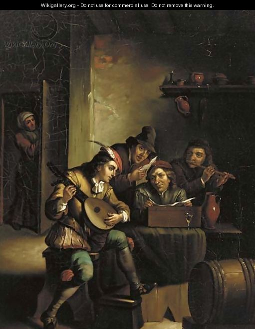 And Making Merry Music In A Dutch Tavern - Munich School