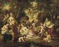 Nymphs and Putti in an Arcadian Landscape - Narcisse-Virgile Díaz de la Peña