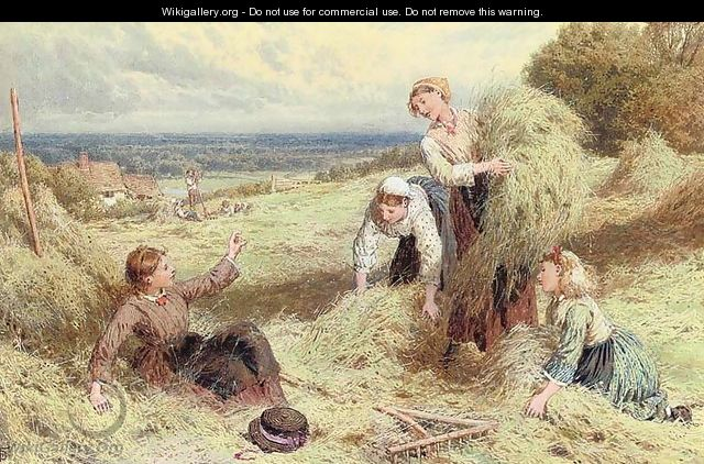 The young harvesters - Myles Birket Foster