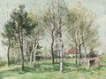 Birch trees in spring - William Mark Fisher
