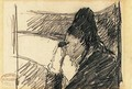 A woman in black at the opera - Mary Cassatt